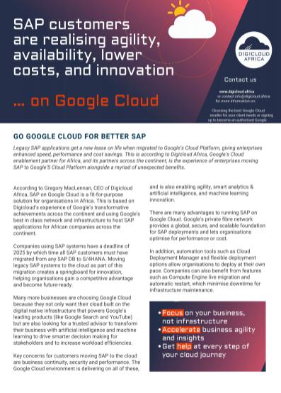Articles: SAP on GCP