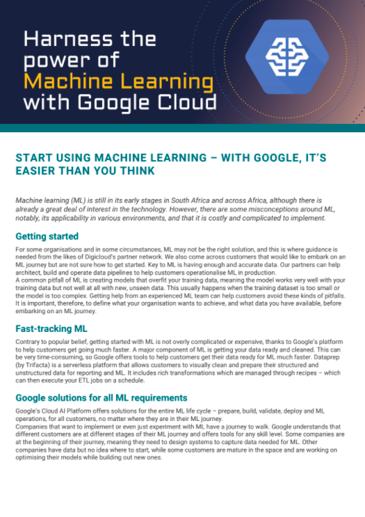 Articles: Machine Learning
