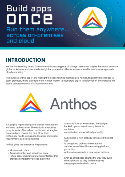 Articles: Application modernisation with Anthos
