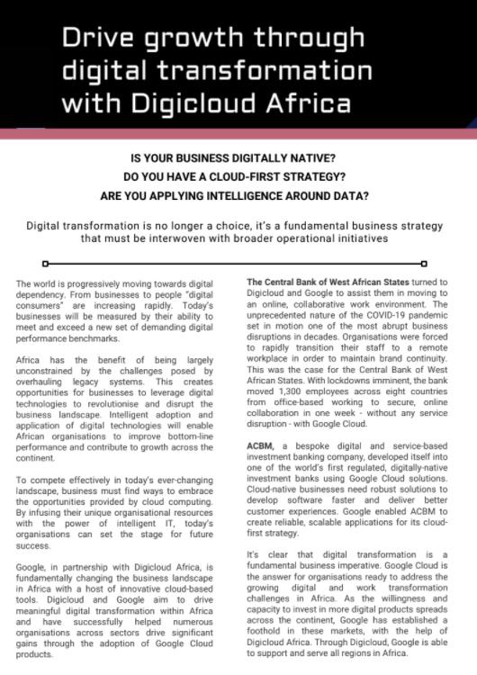 Articles: Digital Transformation