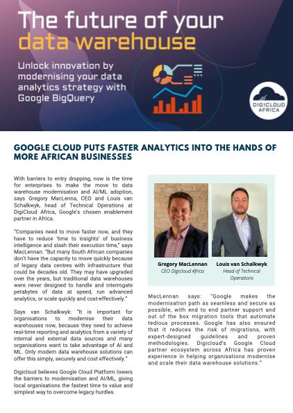 Articles: Data warehouse